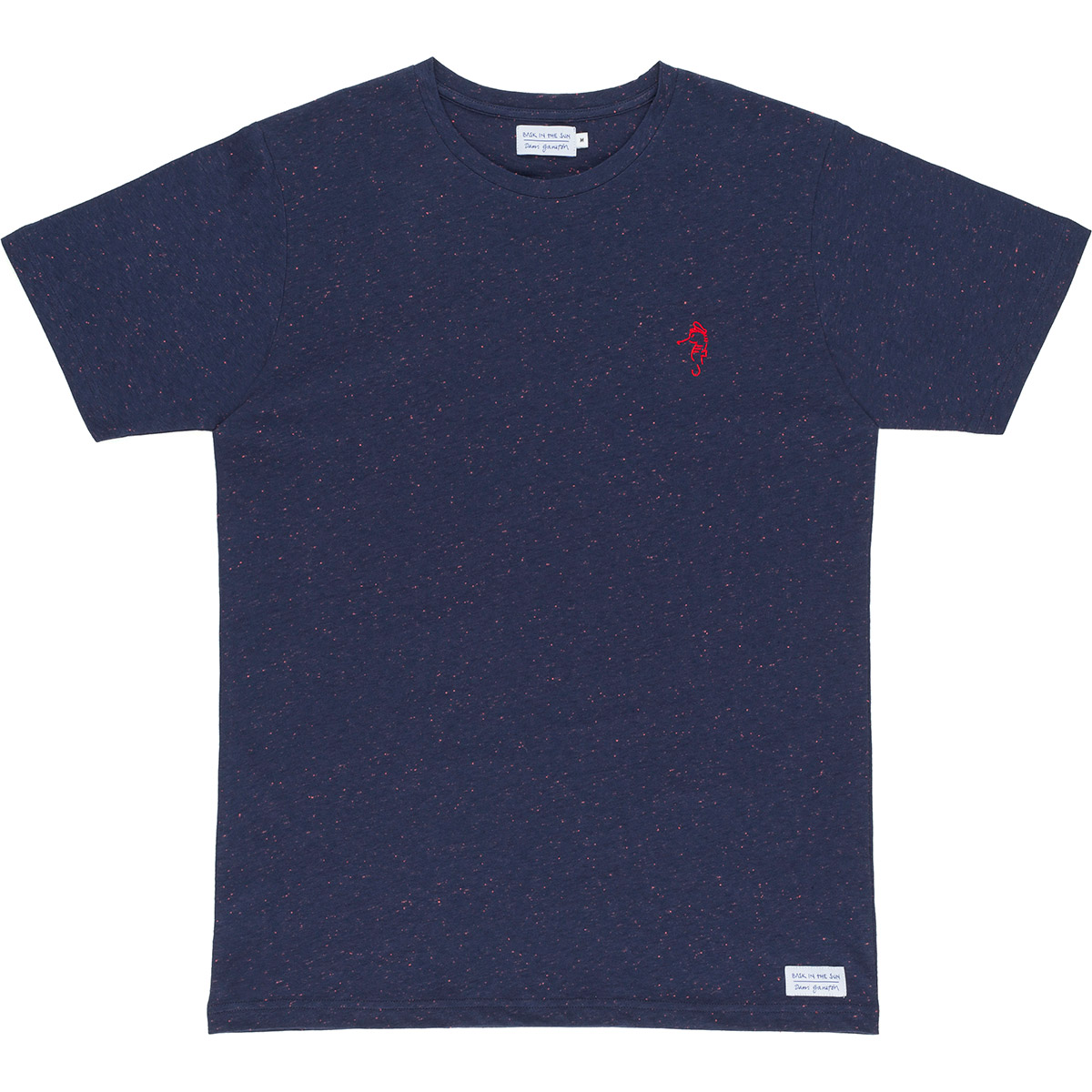 Bask in the Sun - T-shirt en coton bio blue captain seahorse
