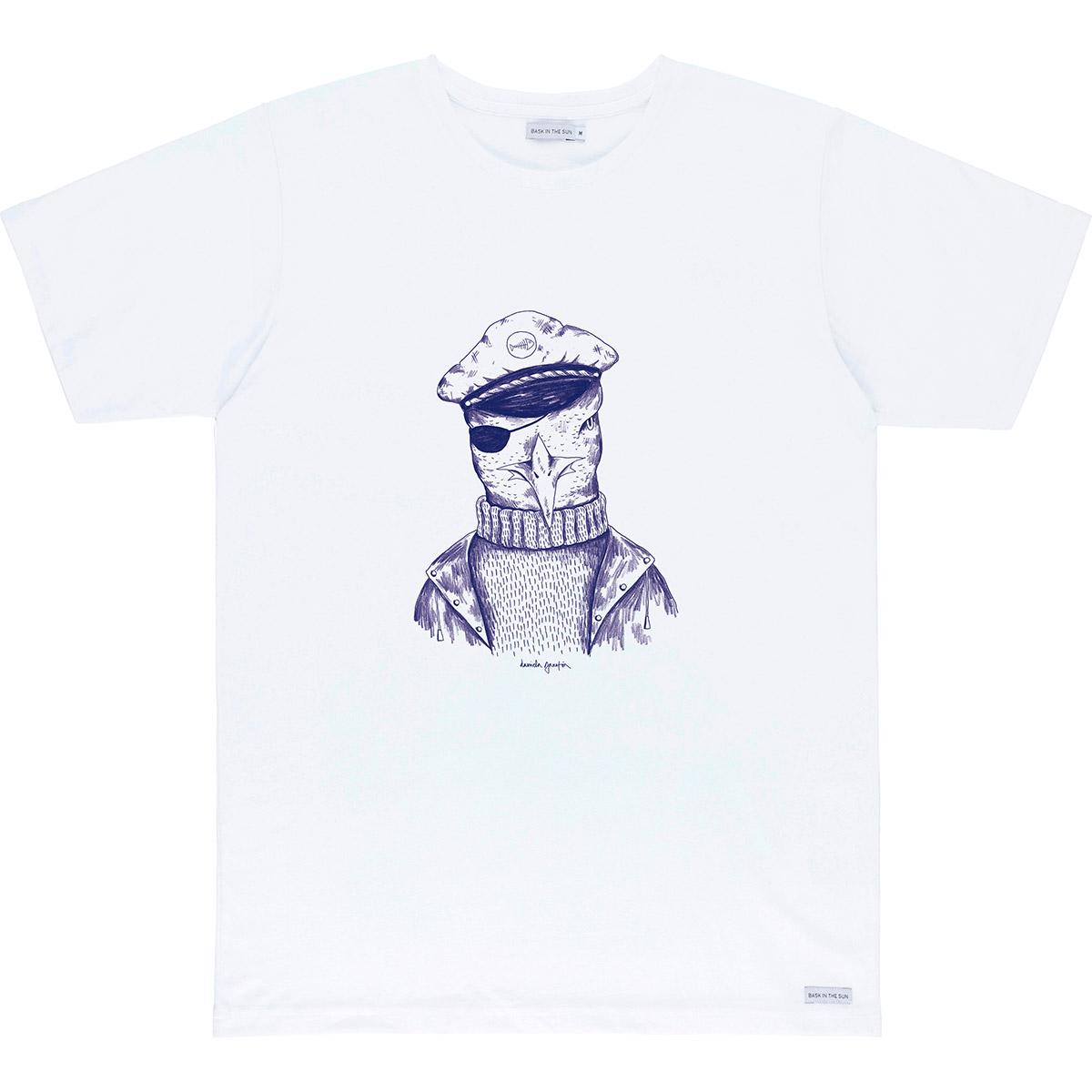 T-shirt en coton bio white seagull - Bask in the Sun num 0