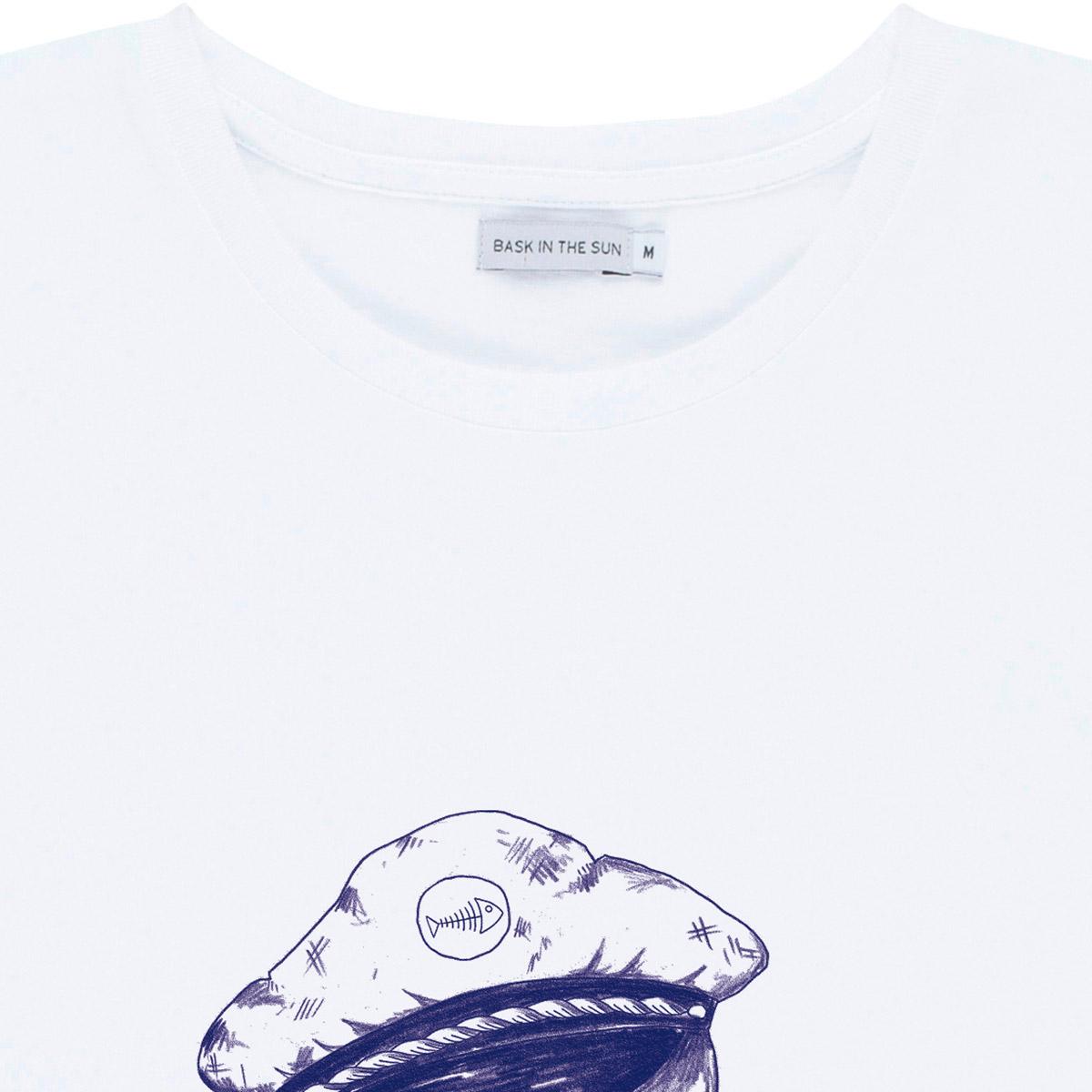 T-shirt en coton bio white seagull - Bask in the Sun num 3