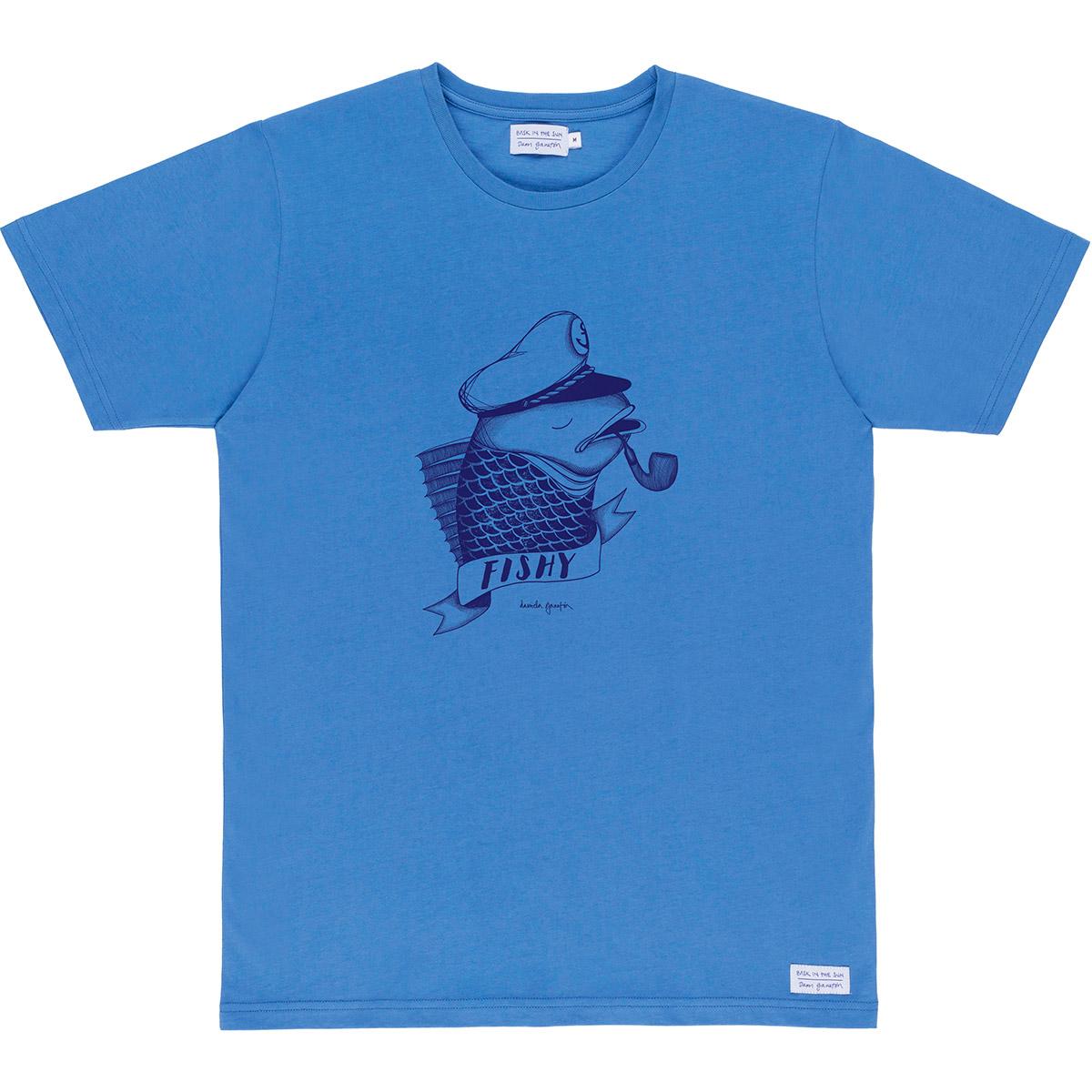 Bask in the Sun - Blue fishy tee