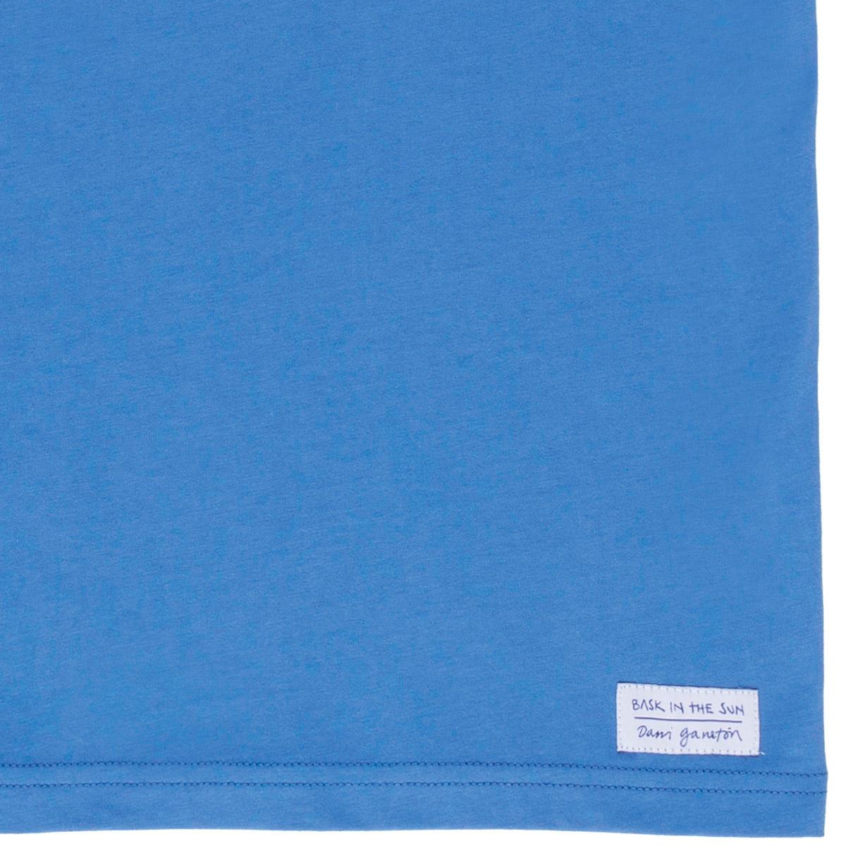 T-shirt en coton bio blue fishy - Bask in the Sun num 2