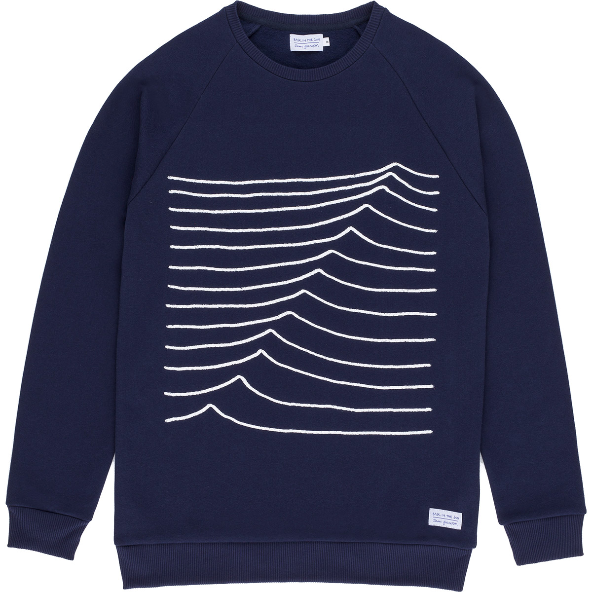 Sweat en coton bio navy swell - Bask in the Sun num 0