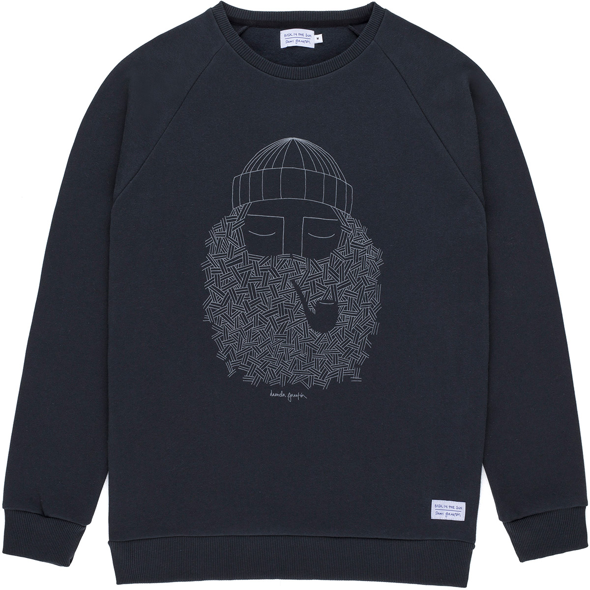 Bask in the Sun - Sweat en coton bio black smoking pipe