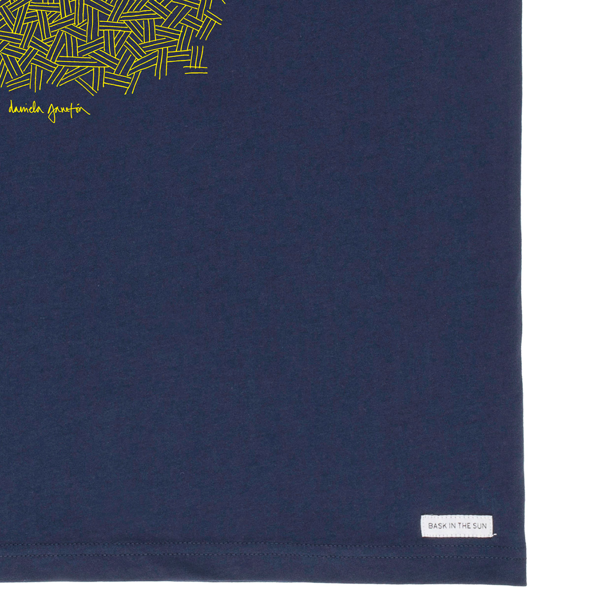 T-shirt en coton bio navy smoking pipe - Bask in the Sun num 3