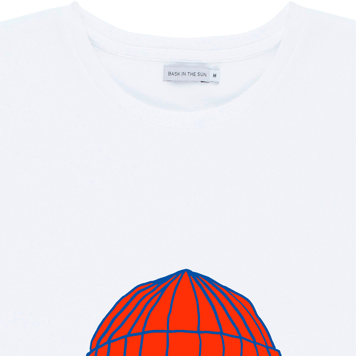 T-shirt en coton bio white to the sea - Bask in the Sun num 2