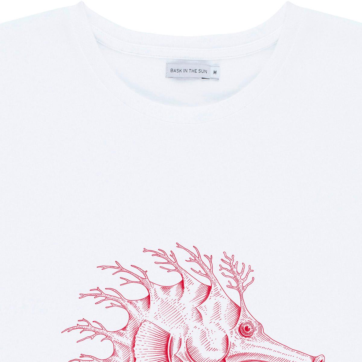 T-shirt en coton bio white hippocampe - Bask in the Sun num 2