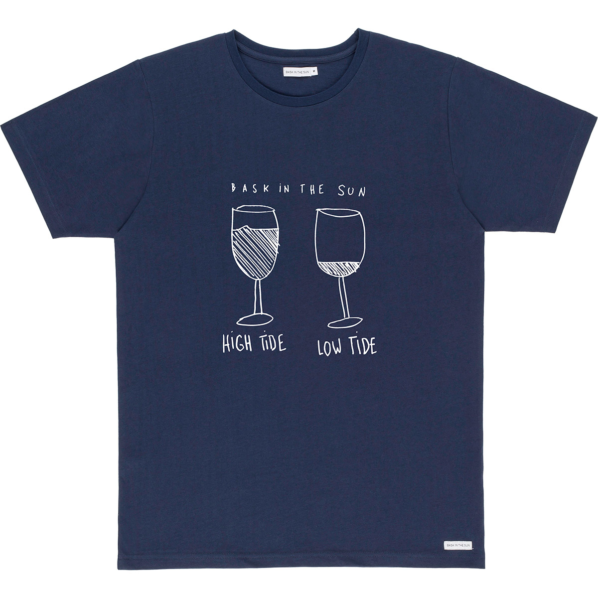 T-shirt en coton bio navy marees - Bask in the Sun num 0