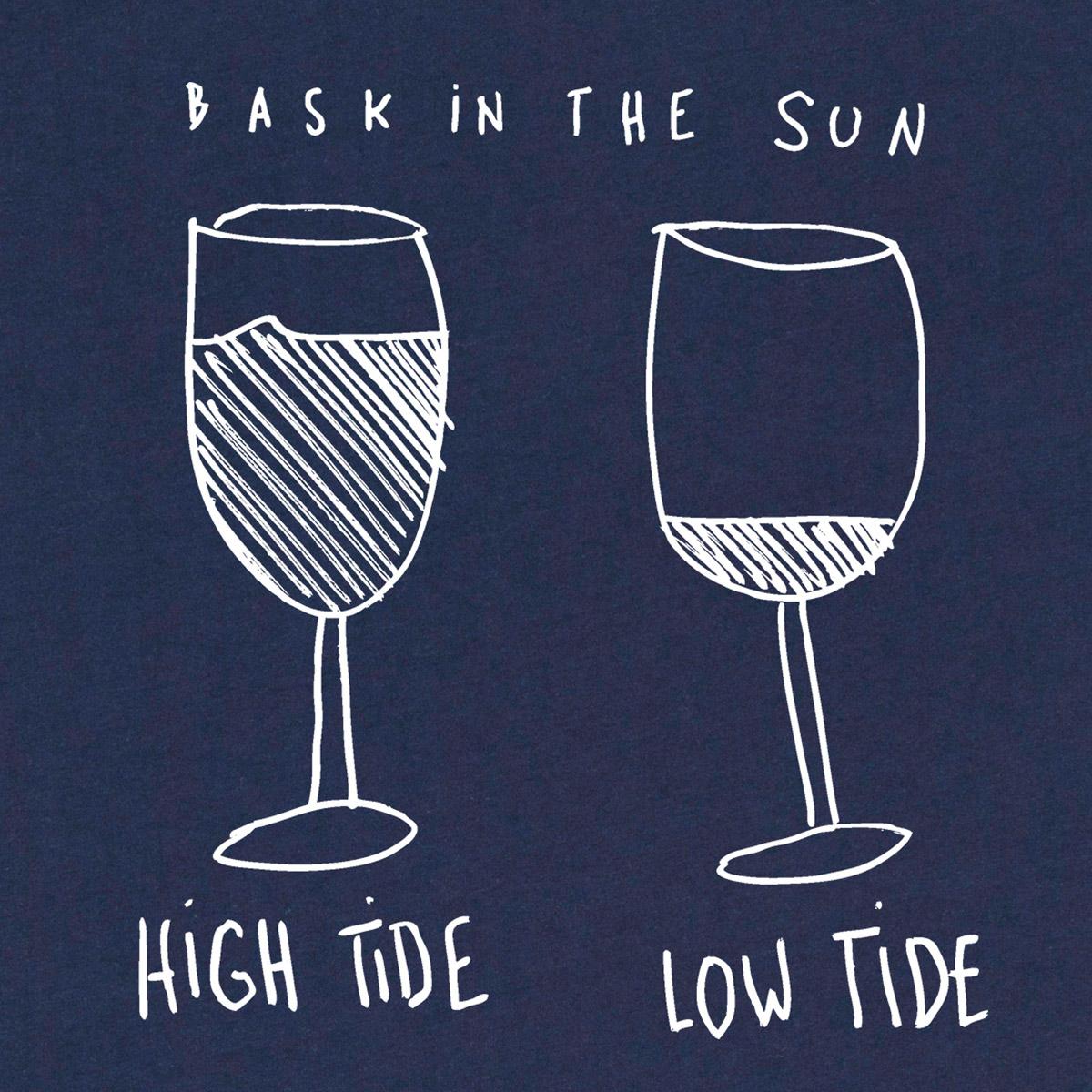 T-shirt en coton bio navy marees - Bask in the Sun num 1