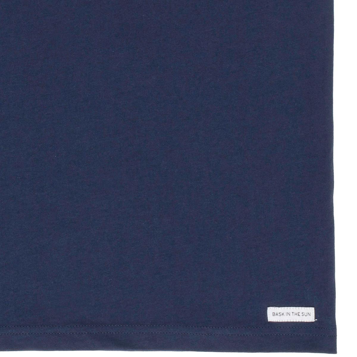 T-shirt en coton bio navy marees - Bask in the Sun num 3