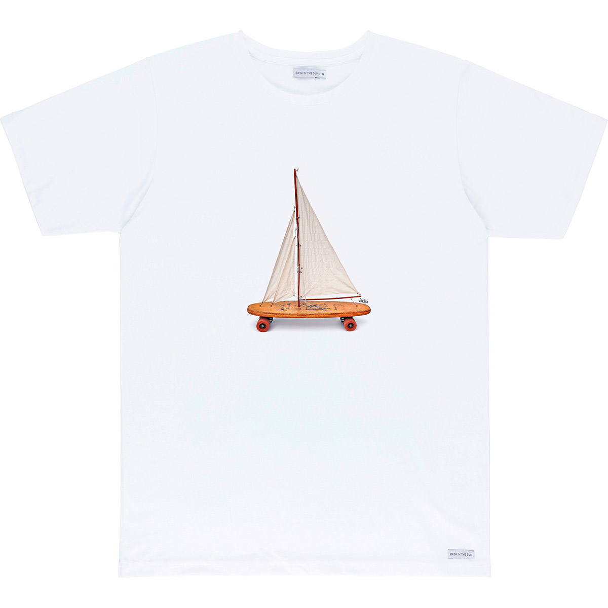 T-shirt en coton bio white voyage - Bask in the Sun num 0
