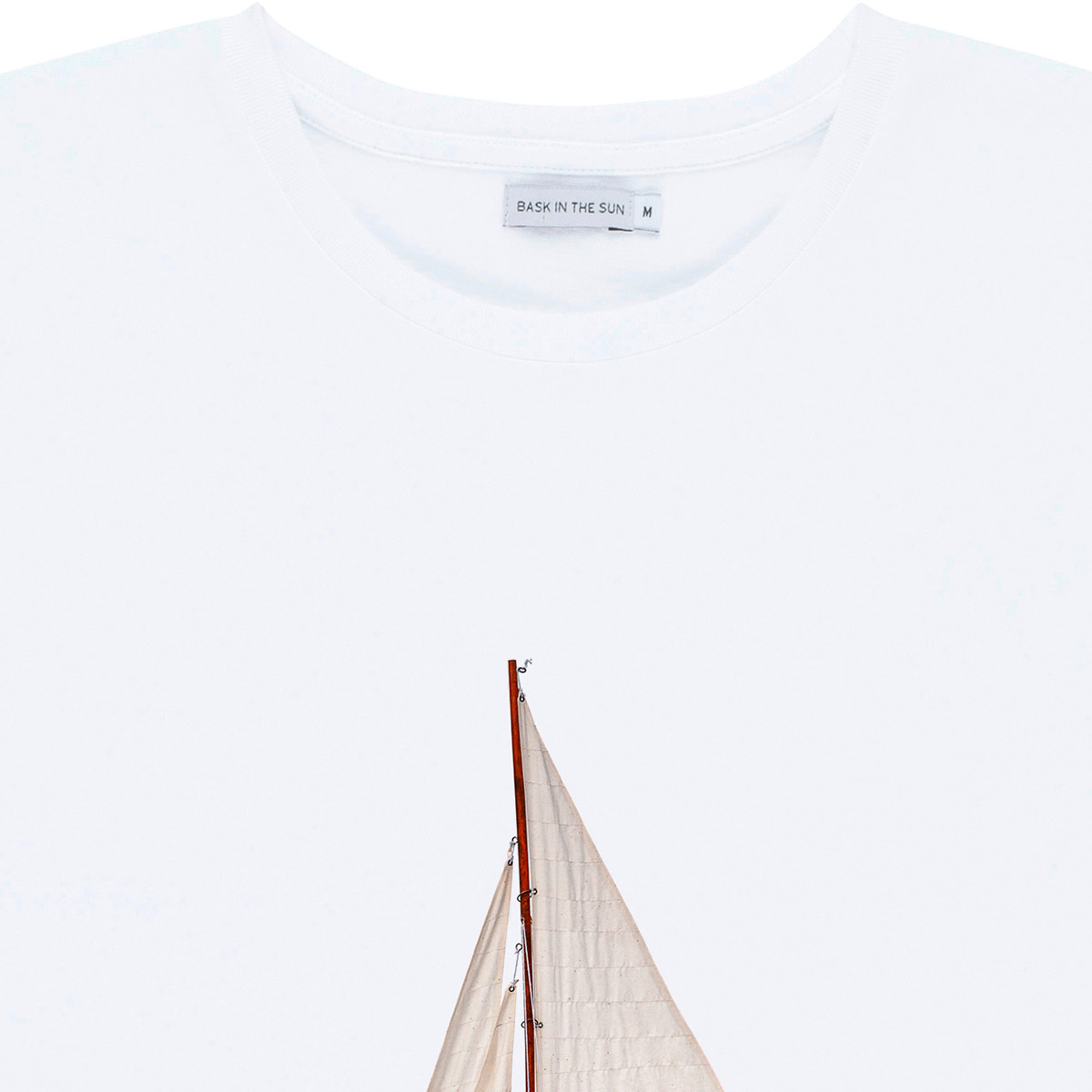 T-shirt en coton bio white voyage - Bask in the Sun num 2