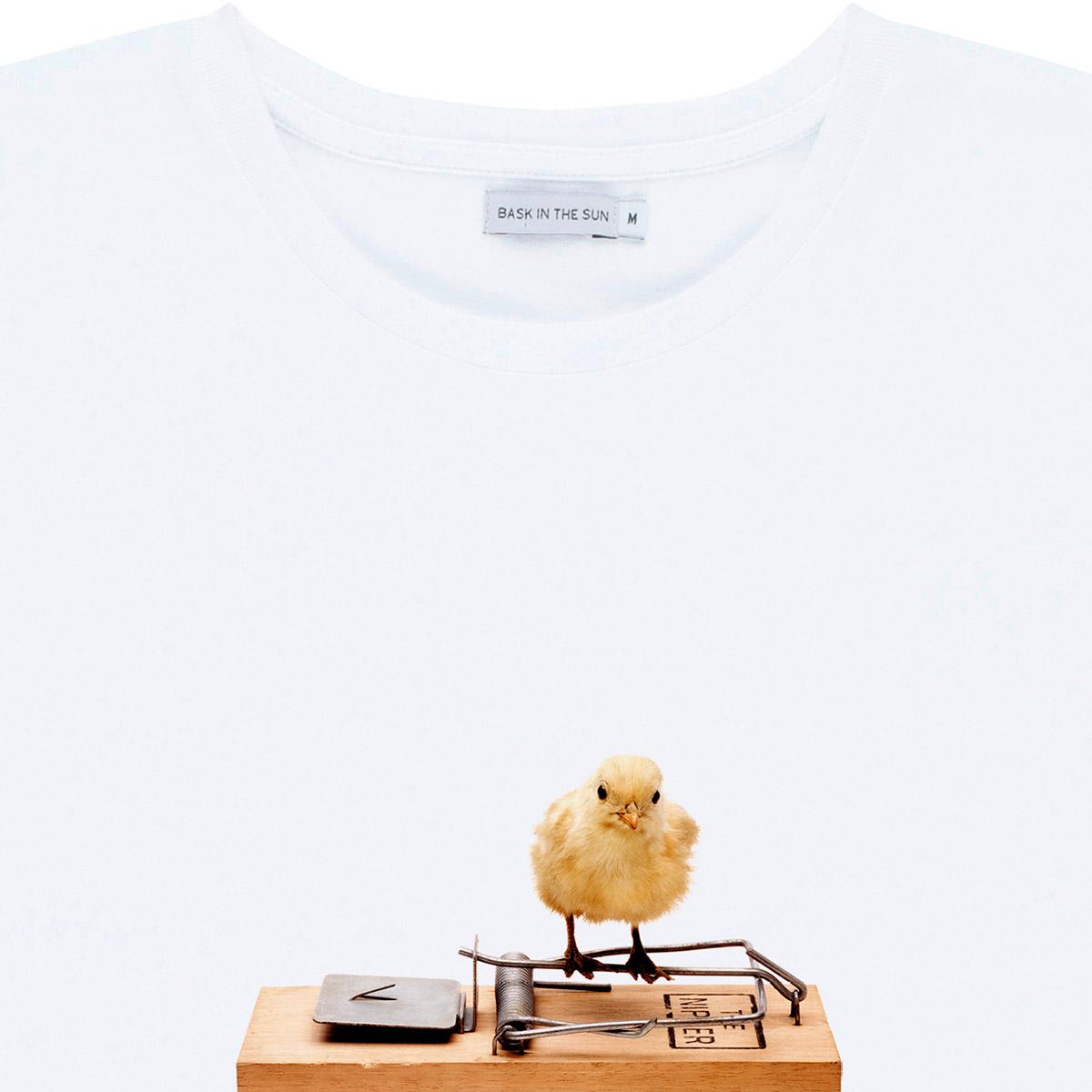 T-shirt en coton bio white poussin - Bask in the Sun num 2