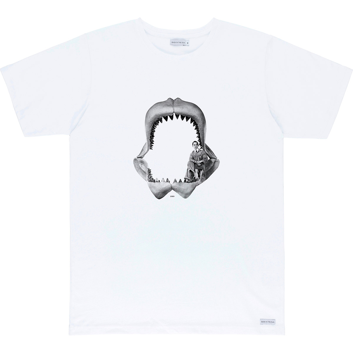 T-shirt en coton bio white megalodon - Bask in the Sun num 0