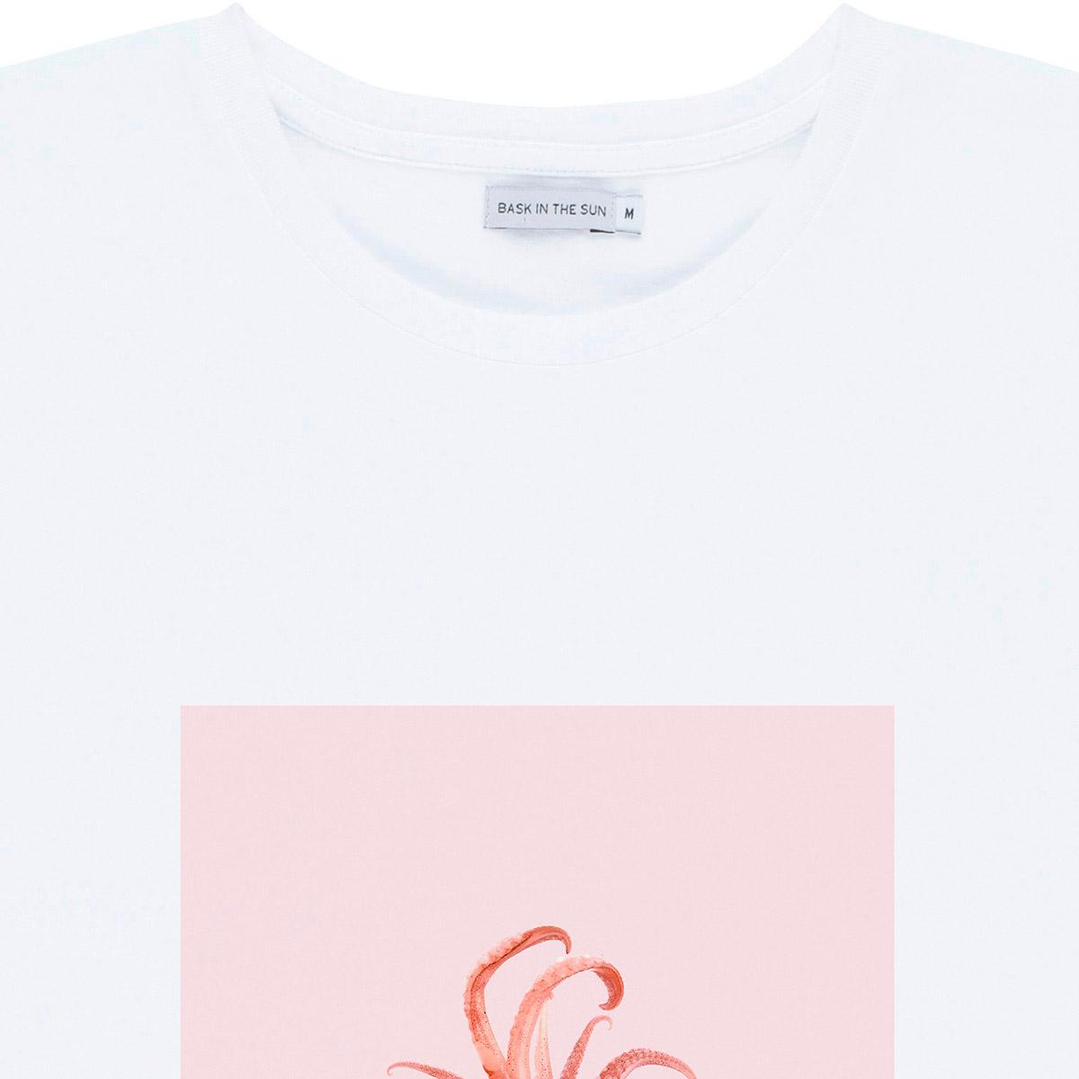 T-shirt en coton bio white chipiron - Bask in the Sun num 2