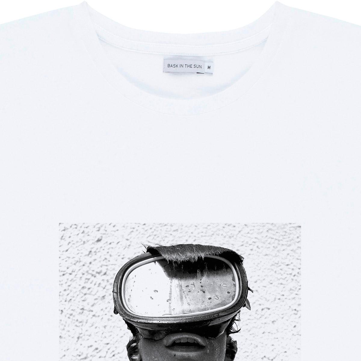 T-shirt en coton bio white pablo - Bask in the Sun num 2