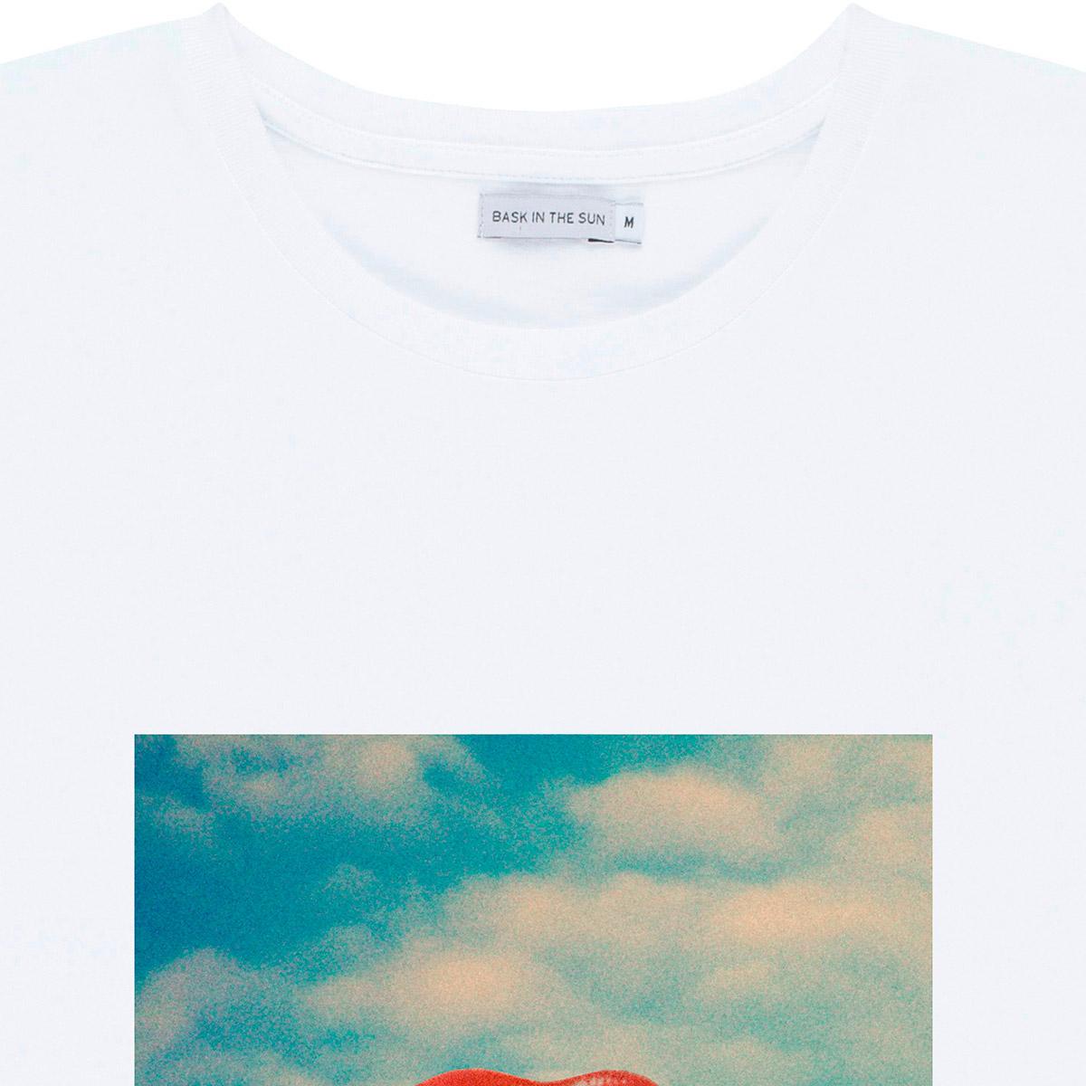 T-shirt en coton bio white eau de vie - Bask in the Sun num 2