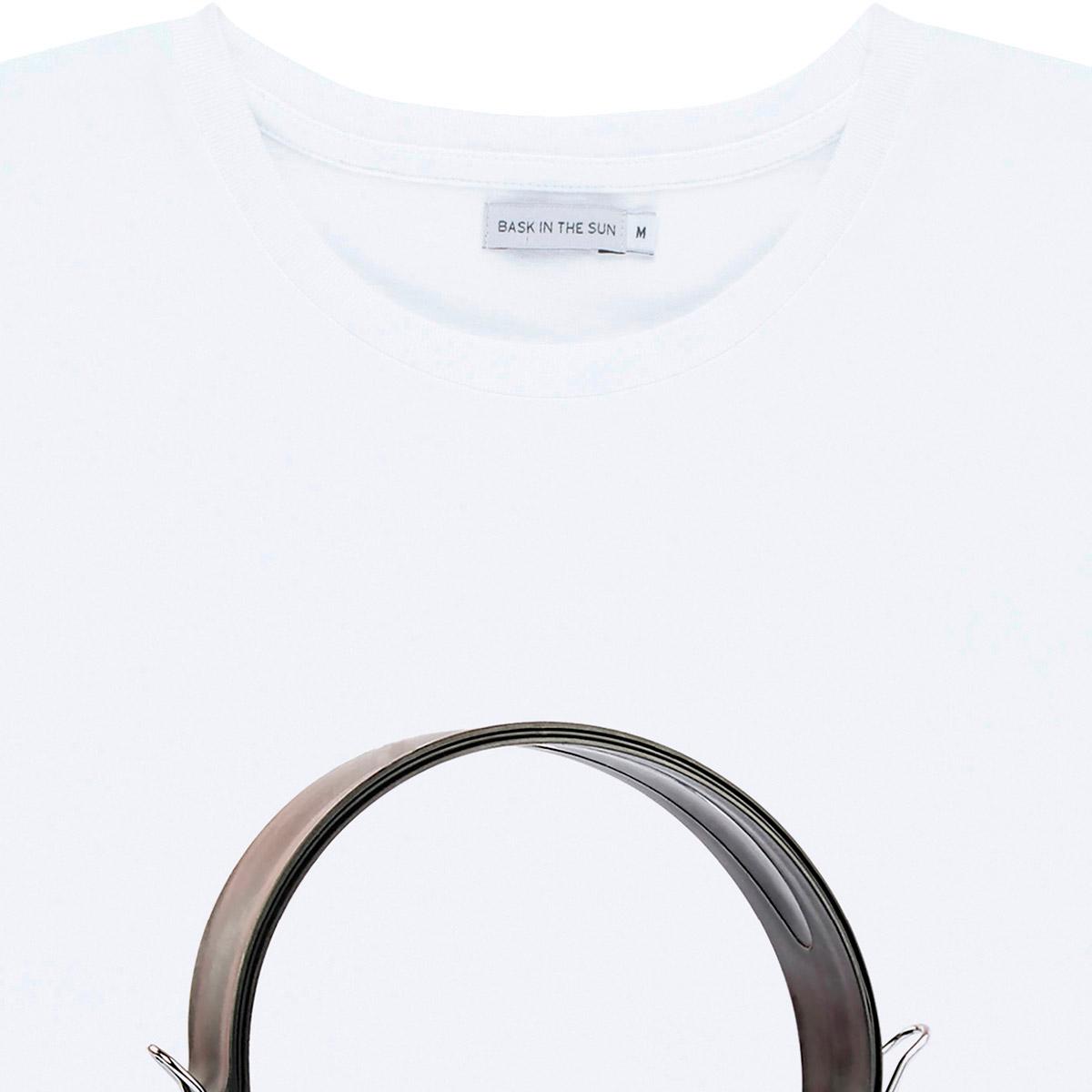 T-shirt en coton bio white shellphones - Bask in the Sun num 2