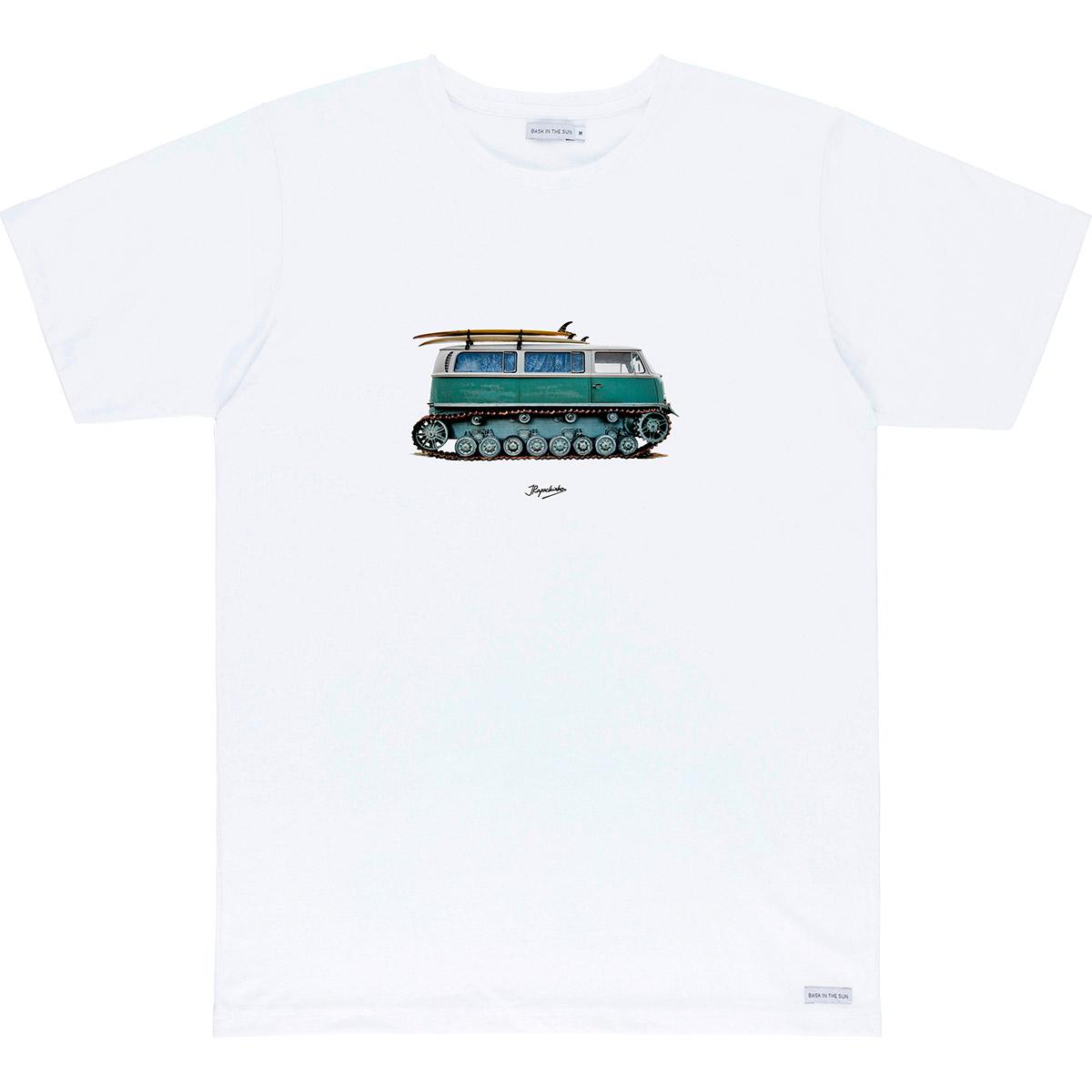 T-shirt en coton bio white tout terrain - Bask in the Sun num 0