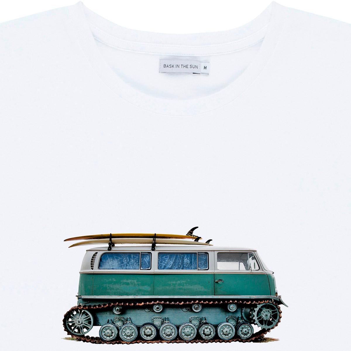 T-shirt en coton bio white tout terrain - Bask in the Sun num 2