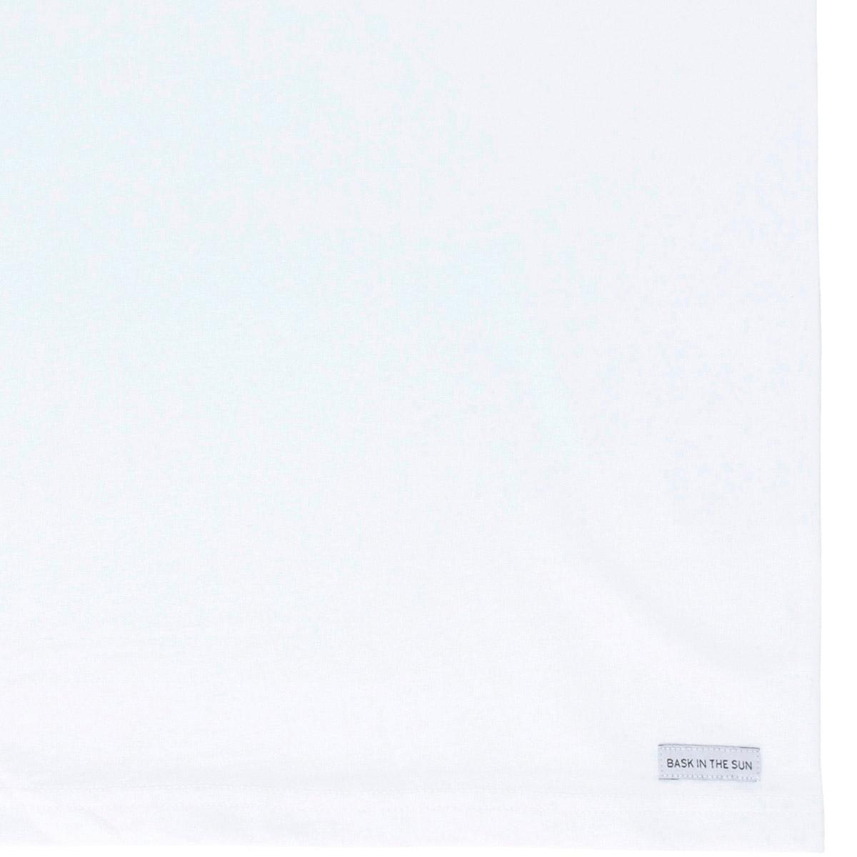 T-shirt en coton bio white tout terrain - Bask in the Sun num 3