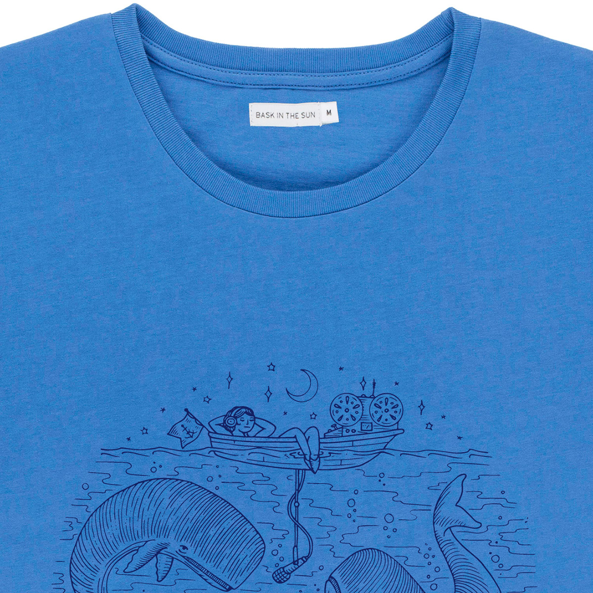 T-shirt en coton bio blue radio cetace - Bask in the Sun num 2