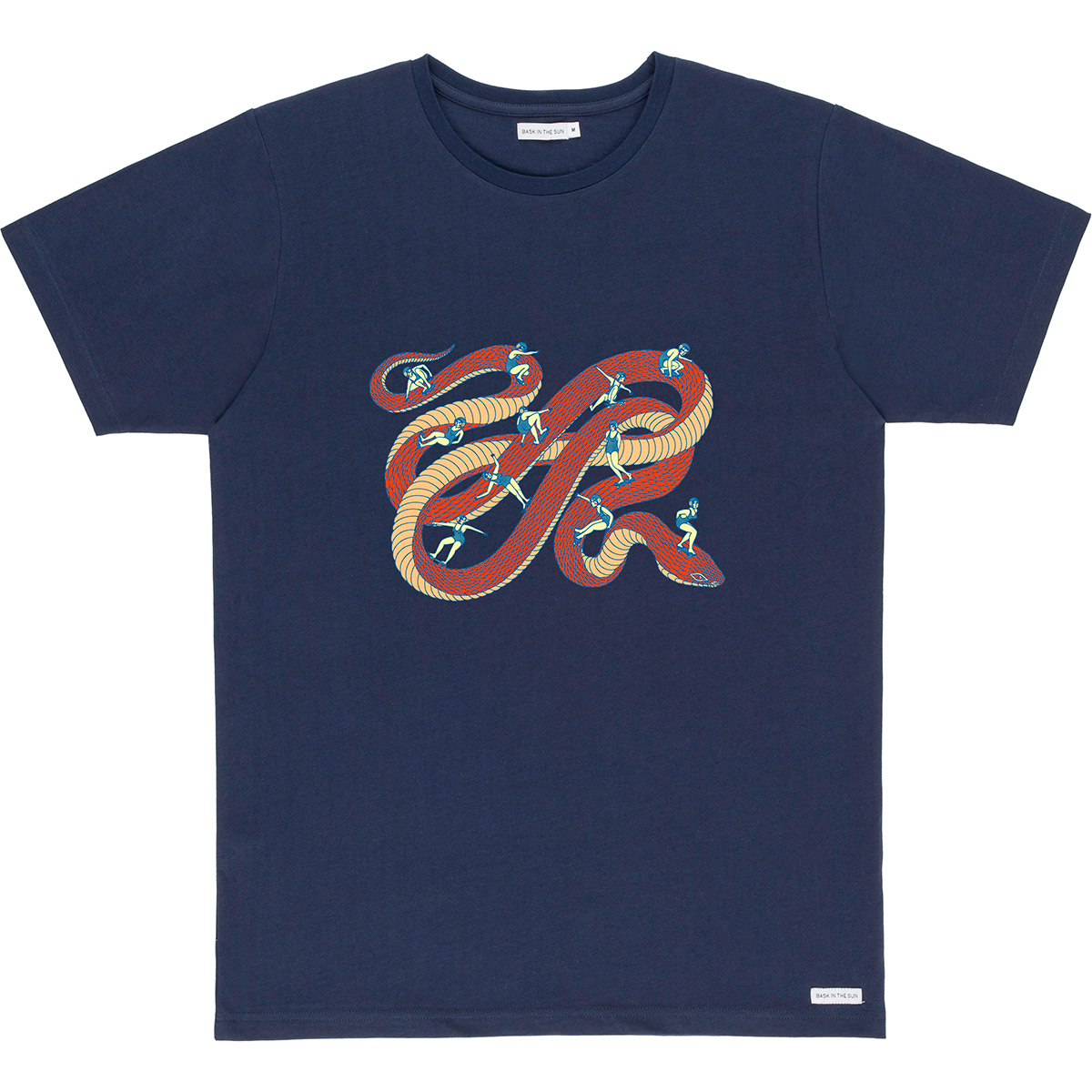 Bask in the Sun - T-shirt en coton bio navy snakepark