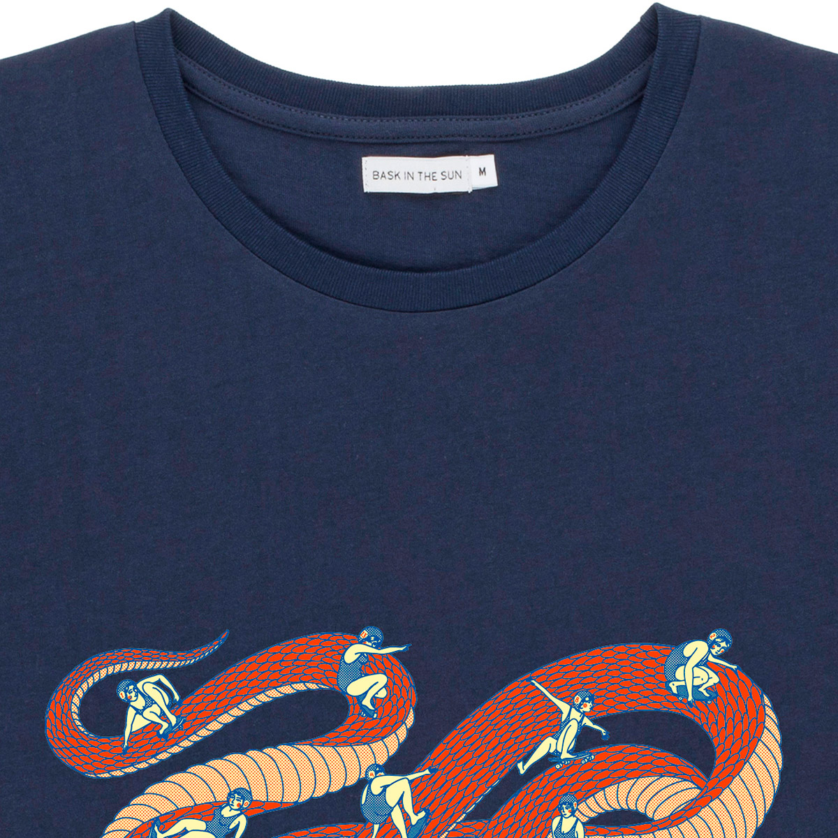T-shirt en coton bio navy snakepark - Bask in the Sun num 2