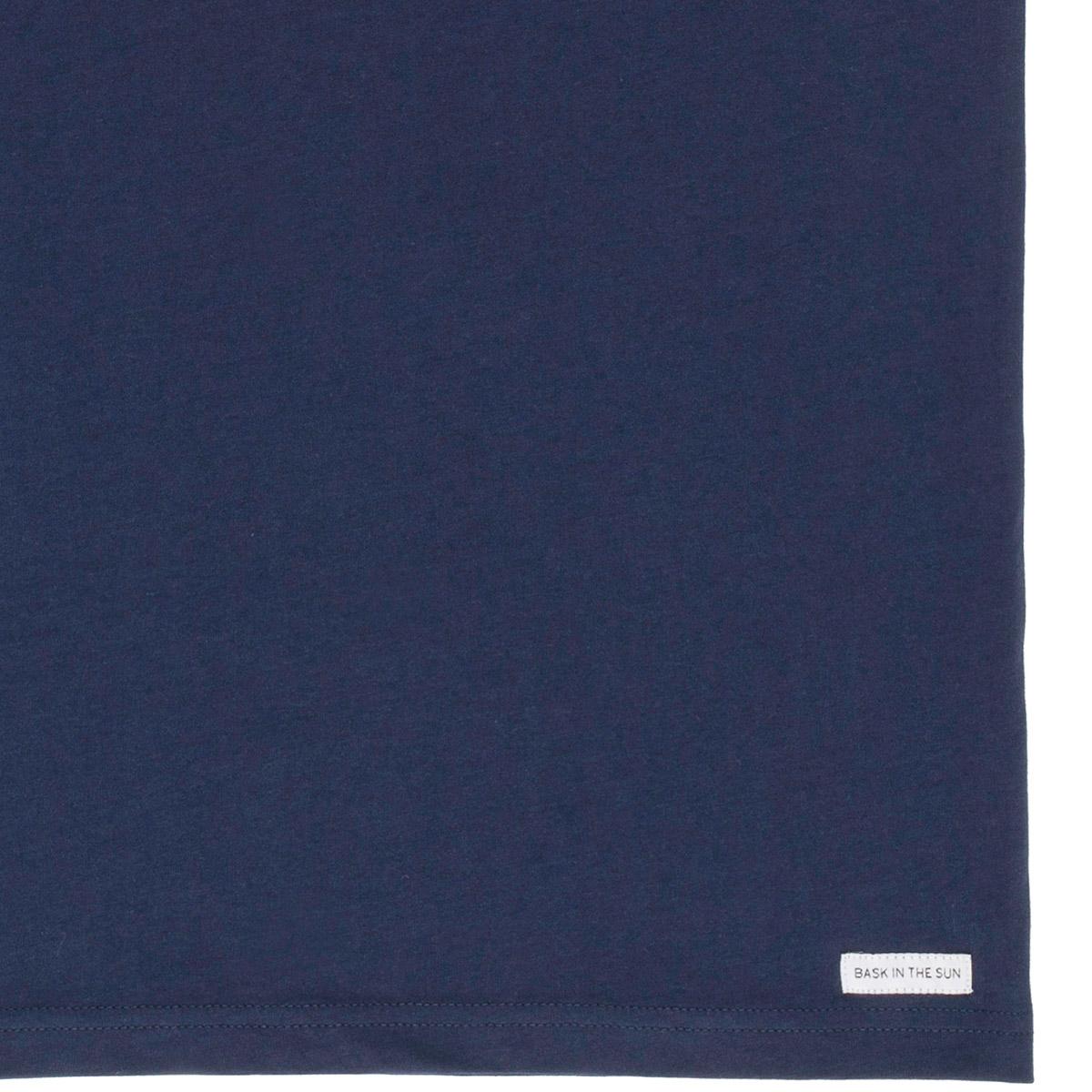 T-shirt en coton bio navy snakepark - Bask in the Sun num 3