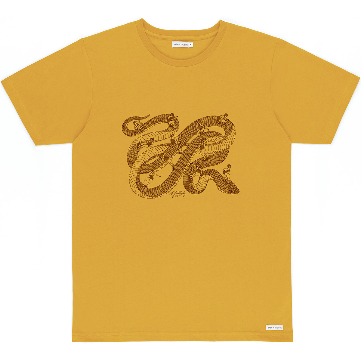 Bask in the Sun - T-shirt en coton bio camel snakepark