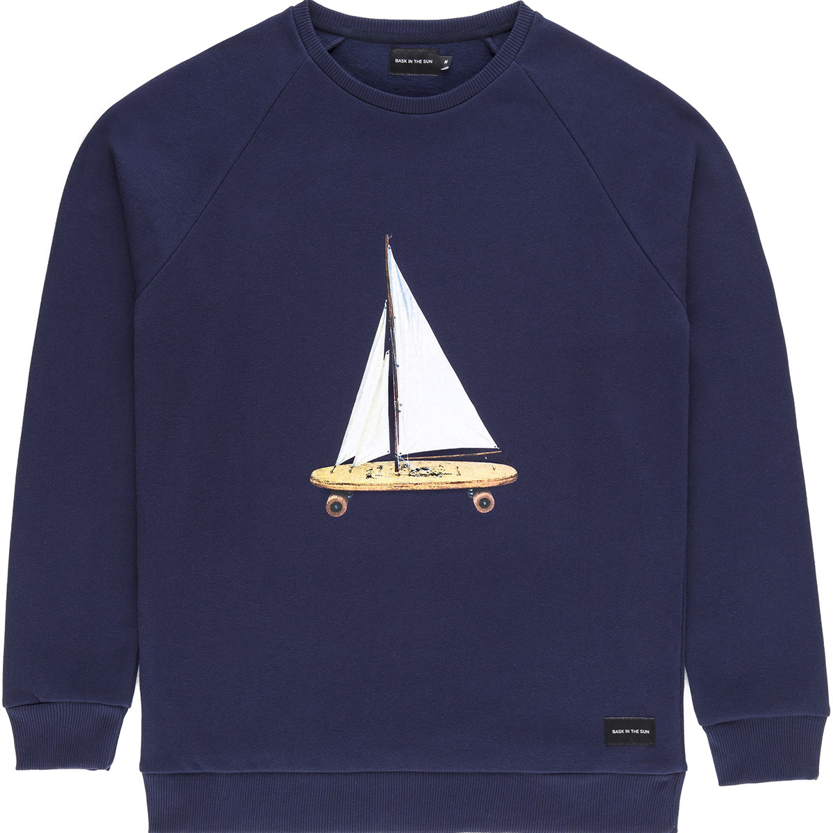 Bask in the Sun - Sweat en coton bio navy voyage