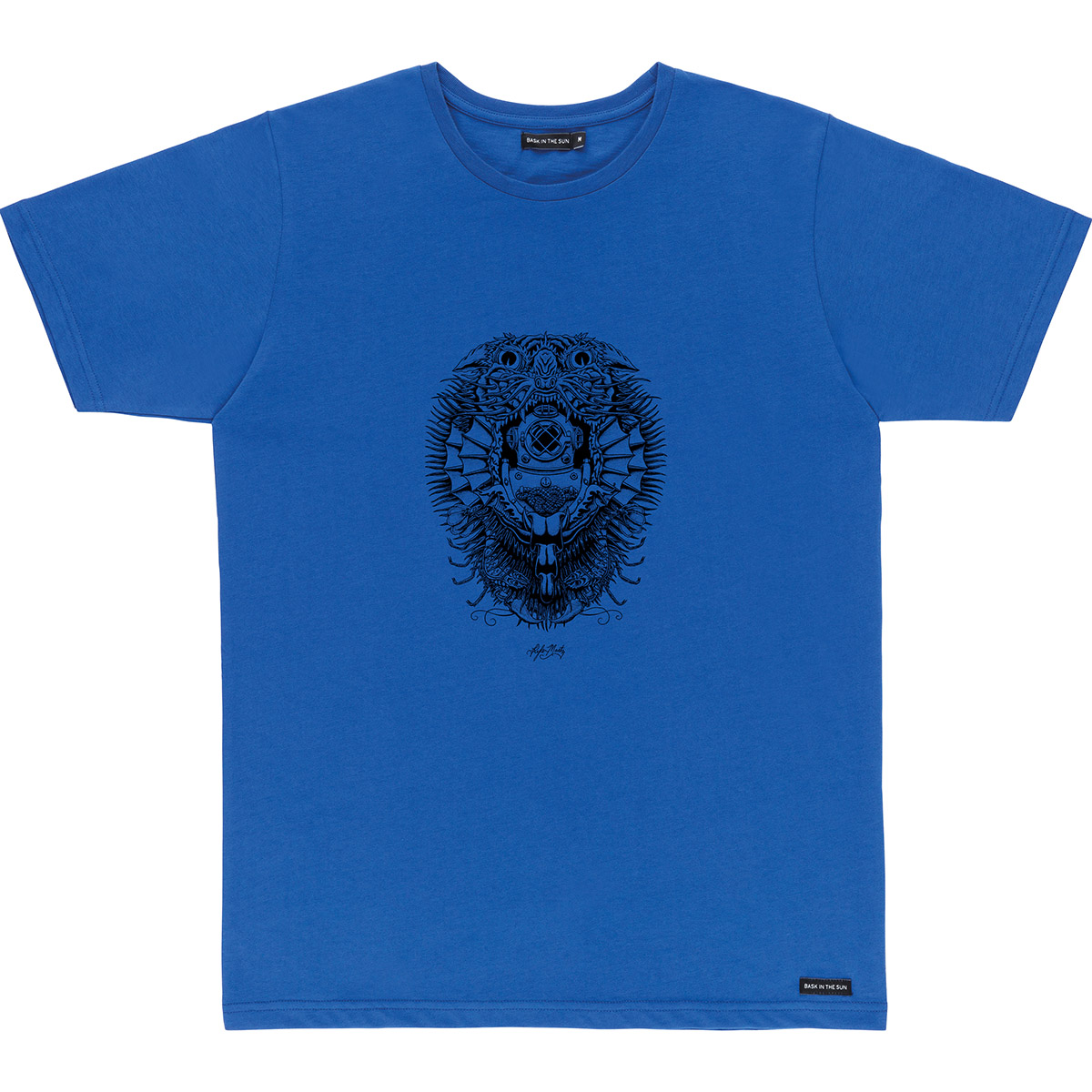 T-shirt en coton bio blue creature - Bask in the Sun num 0