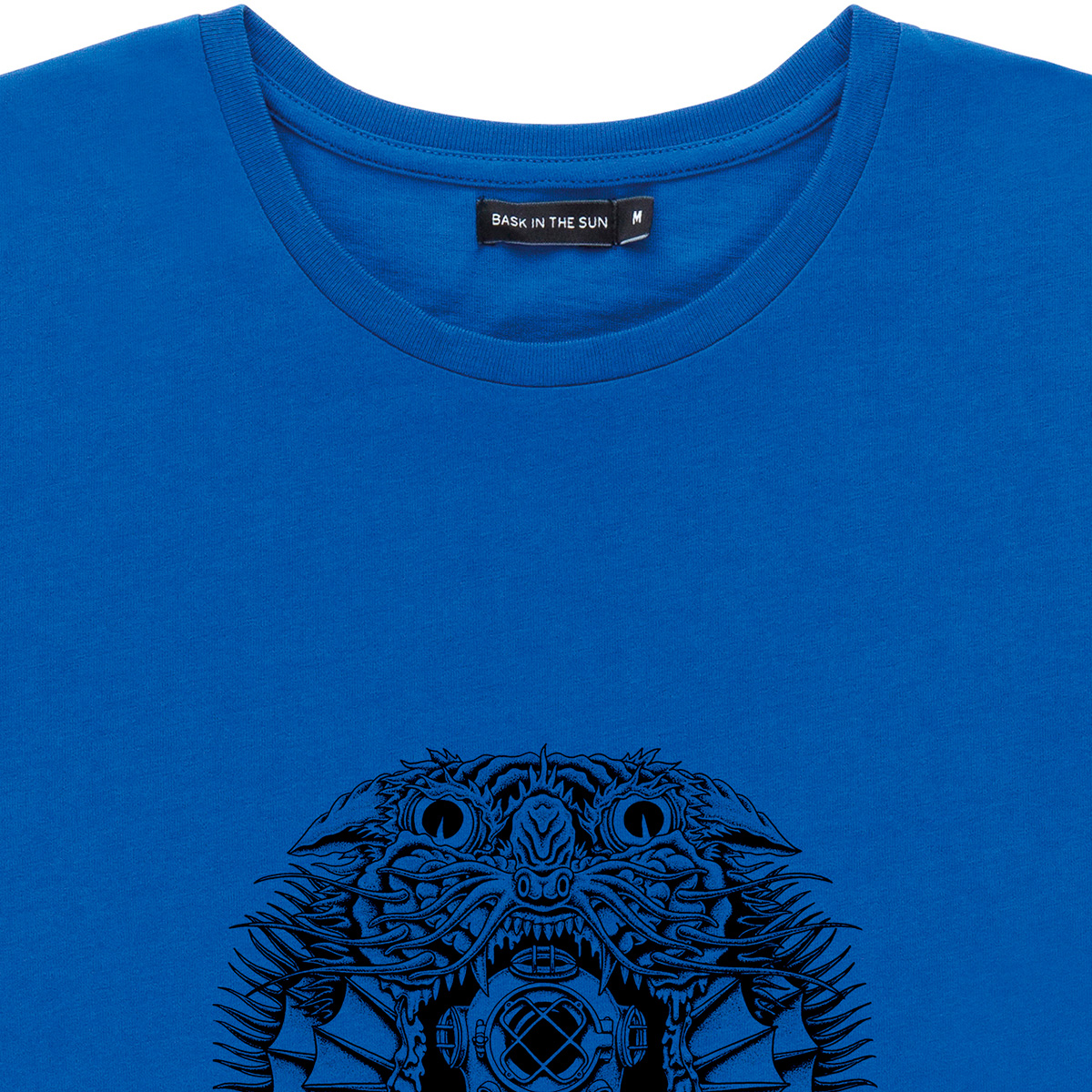 T-shirt en coton bio blue creature - Bask in the Sun num 1