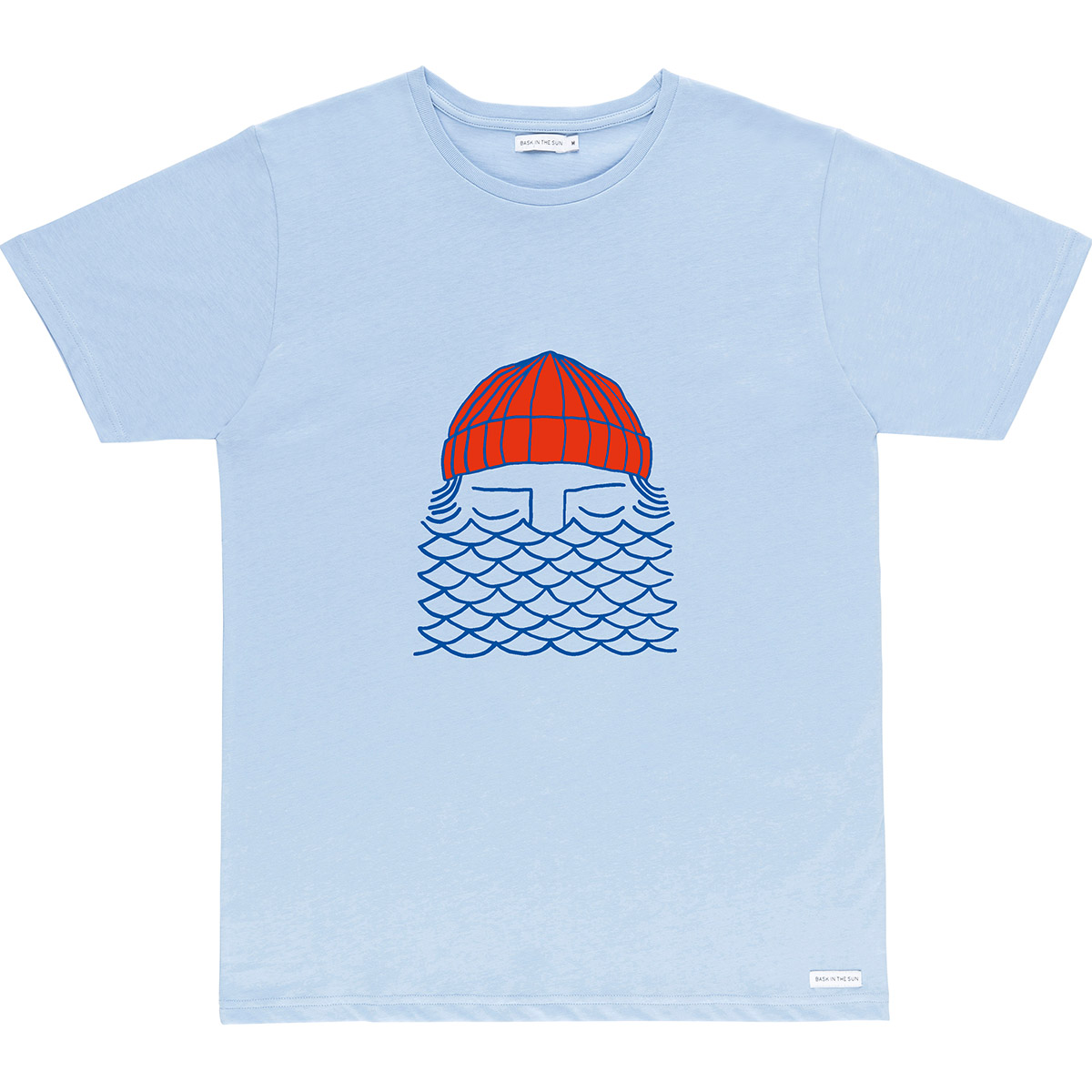 Bask in the Sun - T-shirt en coton bio light blue to the sea