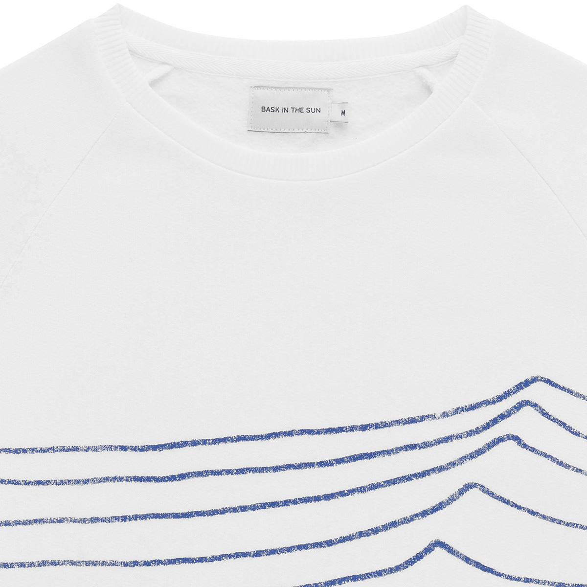 Sweat en coton bio white swell - Bask in the Sun num 1