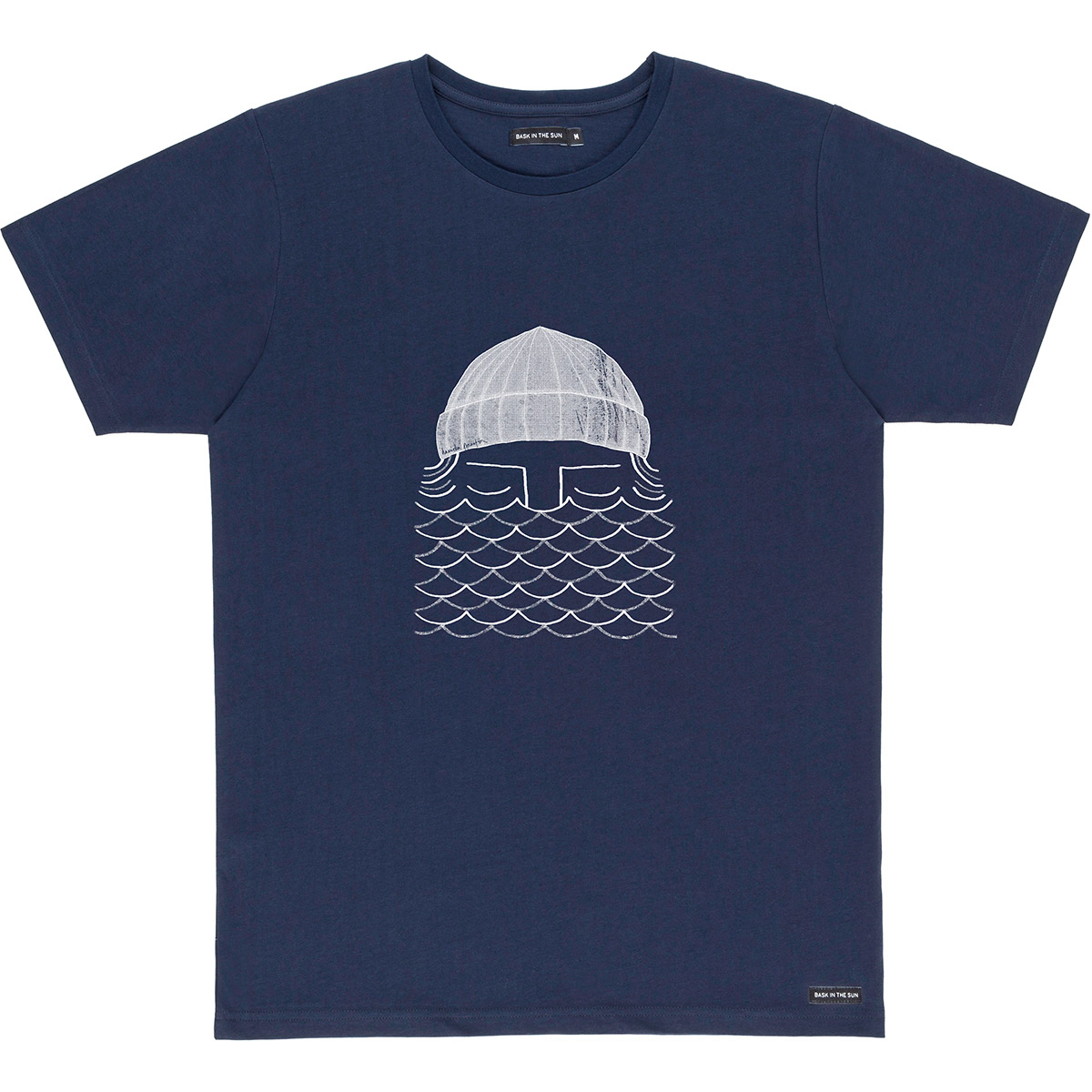 T-shirt en coton bio navy to the sea - Bask in the Sun num 0