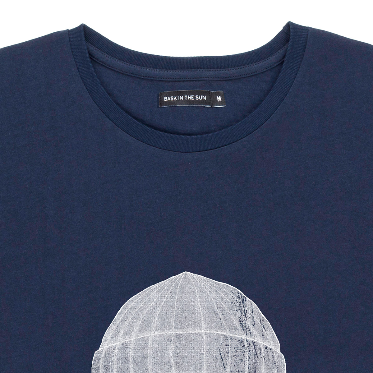 T-shirt en coton bio navy to the sea - Bask in the Sun num 2