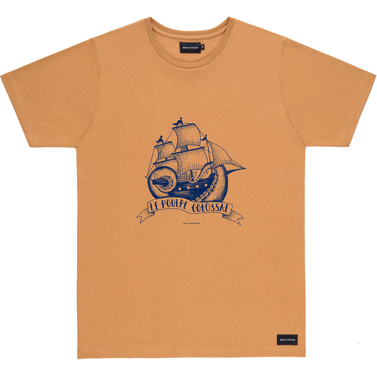 Bask in the Sun - T-shirt en coton bio brown poulpe