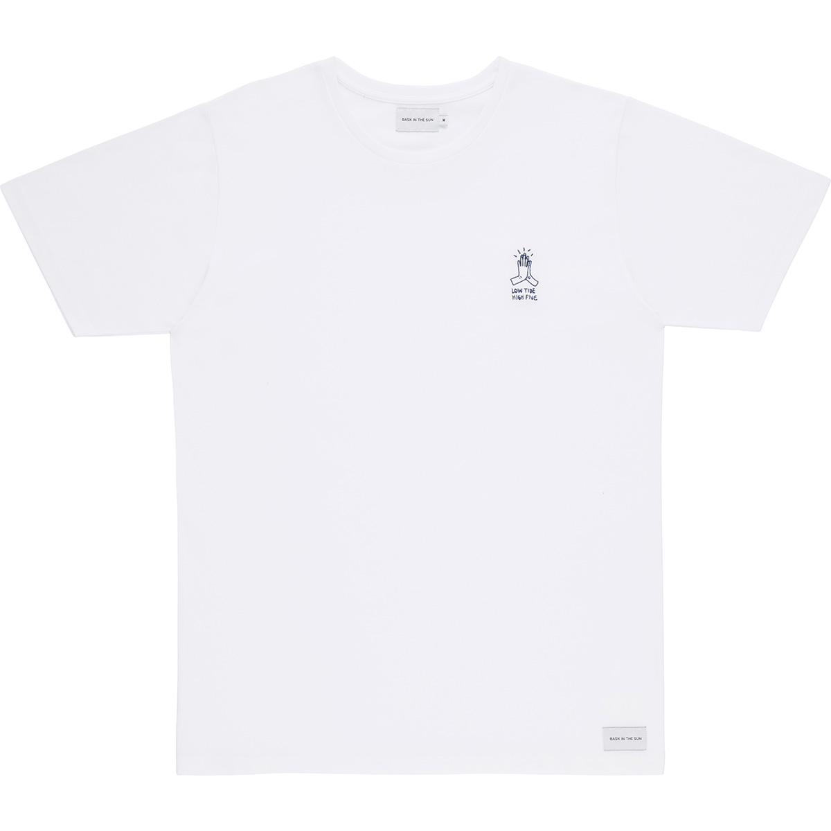 Bask in the Sun - T-shirt en coton bio white high five