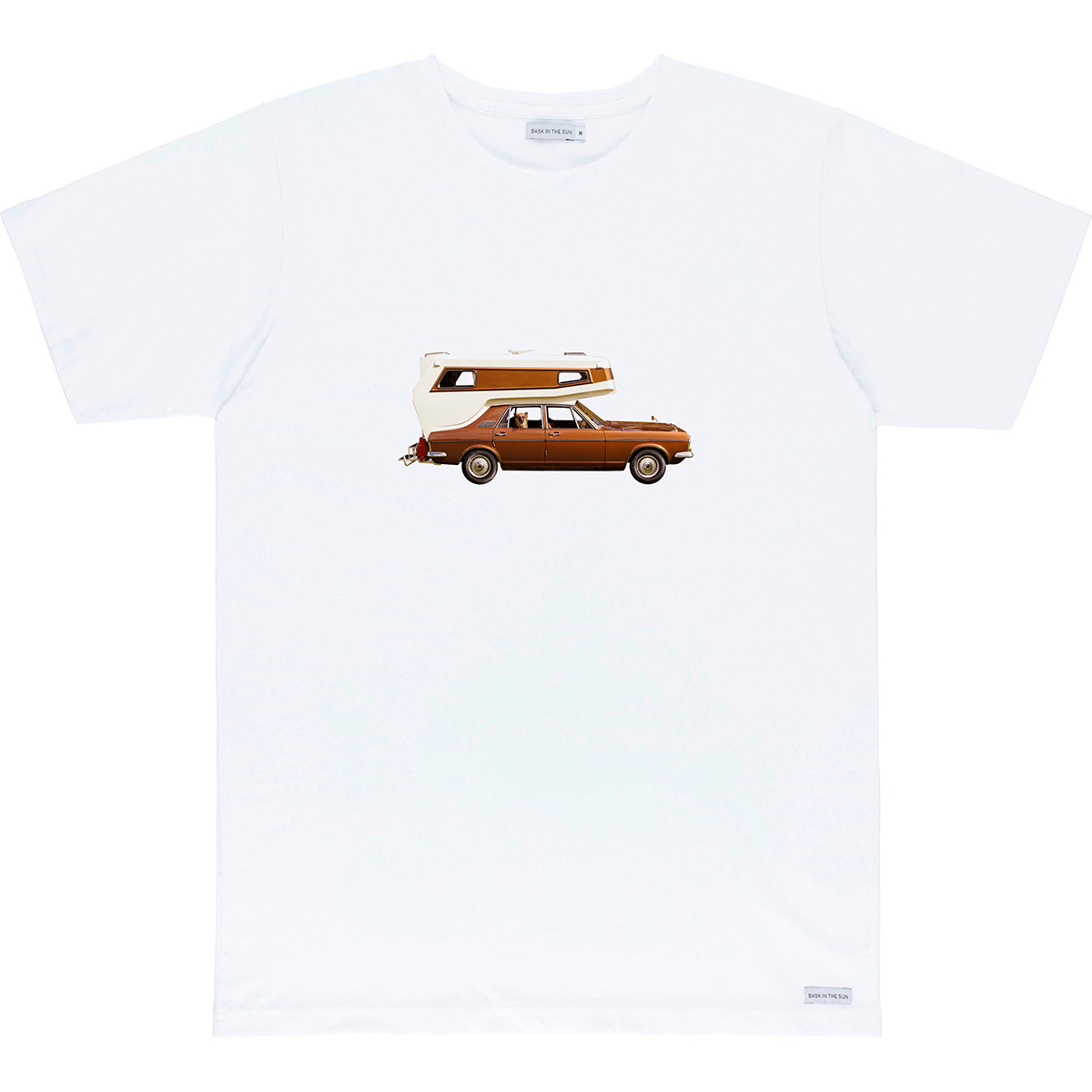 Bask in the Sun - T-shirt en coton bio white on the road