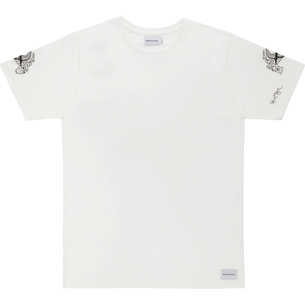 Bask in the Sun - T-shirt en coton bio white swallow