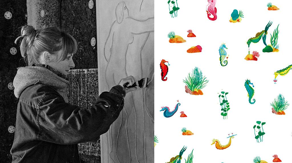 Eléonore Ampuy, artiste invitée de la collection printemps-été 2020
