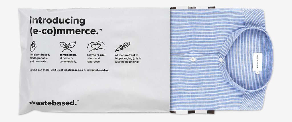 Wastebased, enveloppe e-commerce compostable